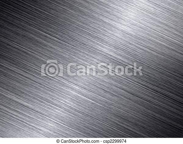 błyszczący, abstrakcyjny, metal, struktura, tło., oczyszczony szczotką - csp2299974