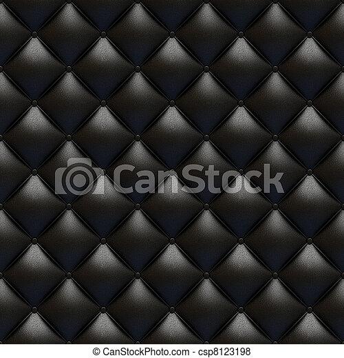 bőrhuzat, fekete, seamless, struktúra - csp8123198