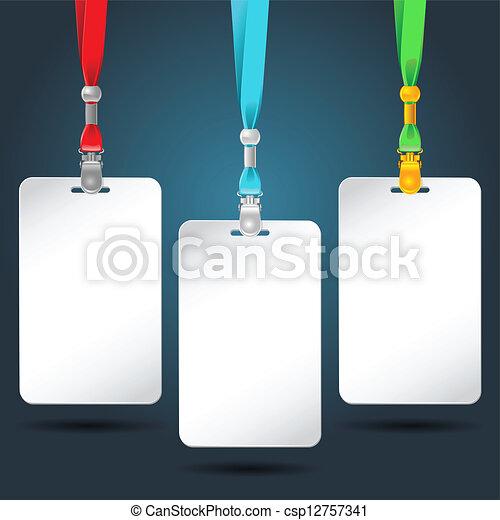 b, 色, lank, neckbands., セット, バッジ - csp12757341