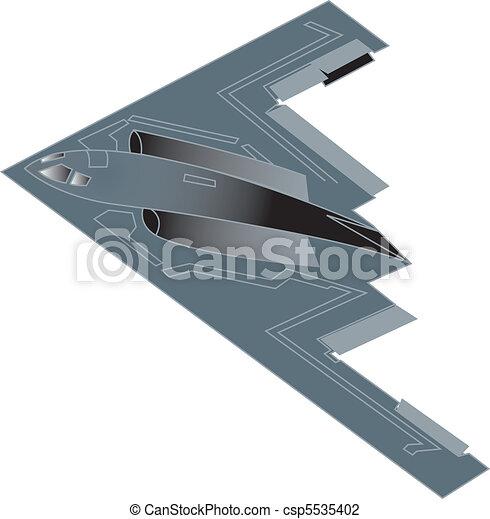 B-2 military bomber airplane jet. - csp5535402