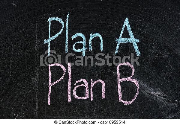 b, alternativ, affär, symbol, isolerat, strategi, planerande, svart, plan, alternativ, bord - csp10953514