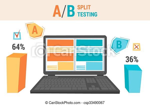 b, essai, fente, infographics - csp33490067