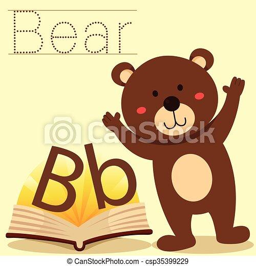b, illustrator, vocabular, beer - csp35399229