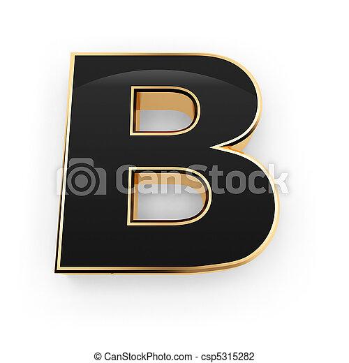 b, métal, lettre - csp5315282
