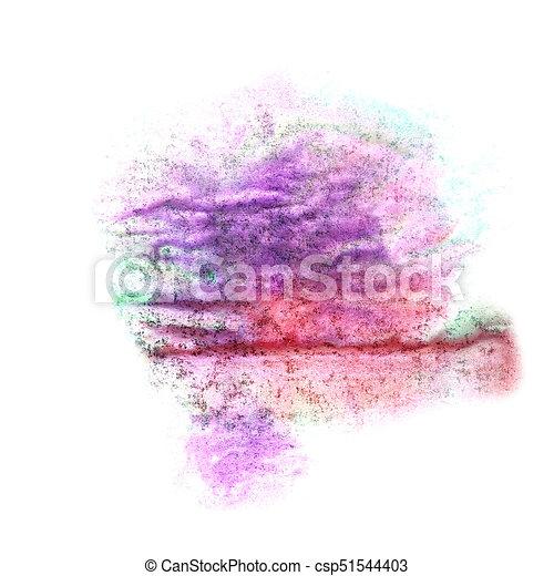 B, violet, tache, aquarelle, peinture eclabousse, vert, goutte ...