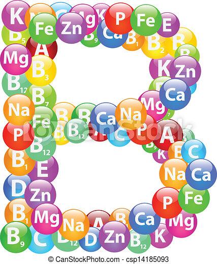b, vitamina, lettera - csp14185093