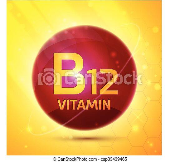 b12, vitamine, pictogram - csp33439465