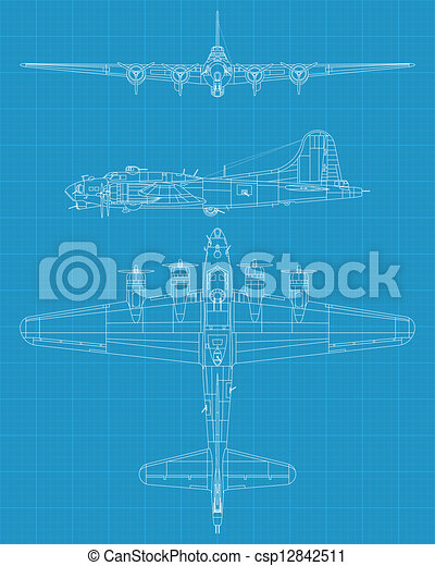 B17 flying fortress - csp12842511
