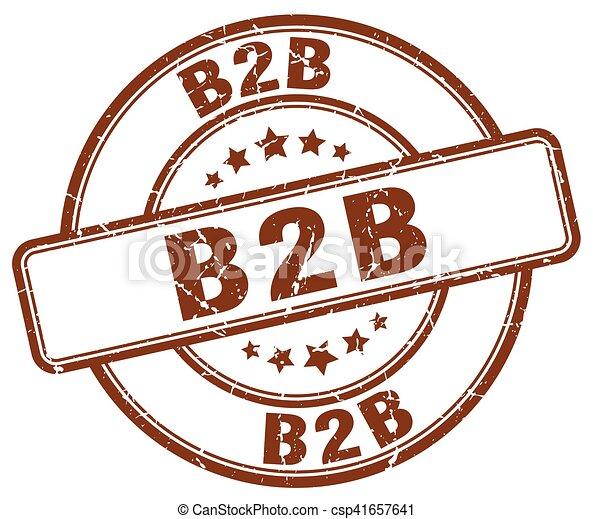 b2b brown grunge stamp - csp41657641