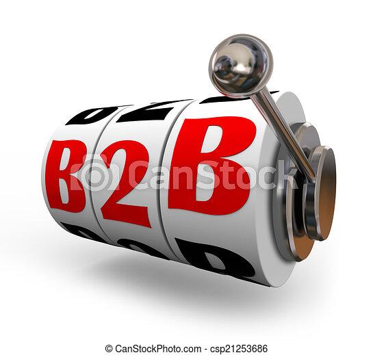 B2B Slot Machine Wheels Dials Business Sales Model - csp21253686