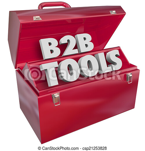 B2B Tools Red Toolbox Business Selling Resources - csp21253828