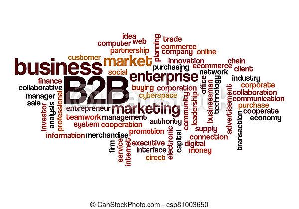 B2B word cloud concept - csp81003650