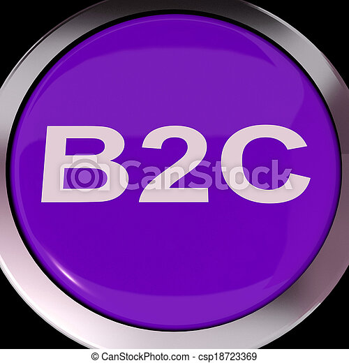 B2c Button Means Business To Consumer Buying Or Selling B2c Button