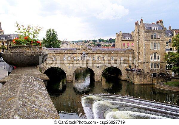 Puente Pulteney, baño, Inglaterra - csp26027719