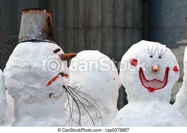 bałwan, snowwoman - csp0379887