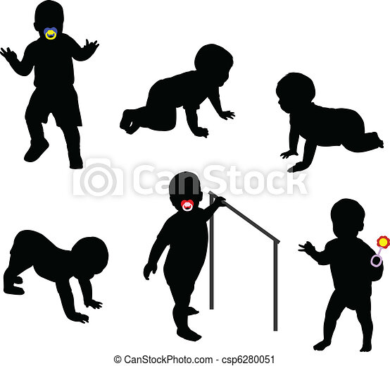 babies silhouettes - csp6280051