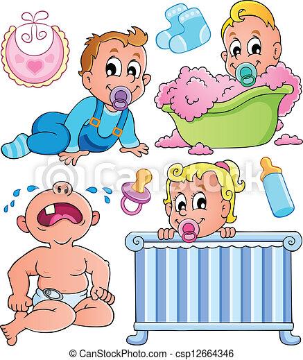 Babies theme collection 1 - csp12664346