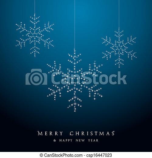 babioles, file., vecteur, luxe, pendre, noël, flocons neige - csp16447023