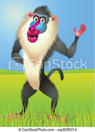 Baboon cartoon - csp9290314