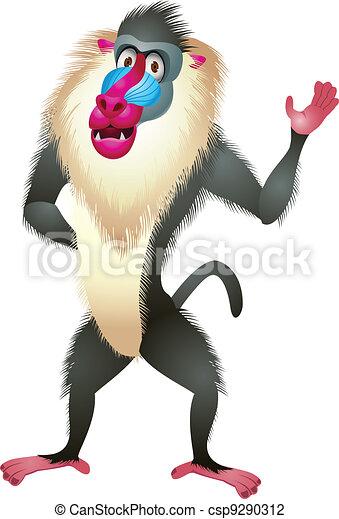 Baboon cartoon - csp9290312