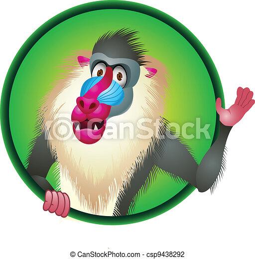 Baboon cartoon - csp9438292