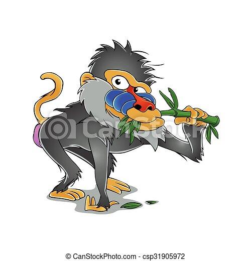 Baboon cartoon - csp31905972
