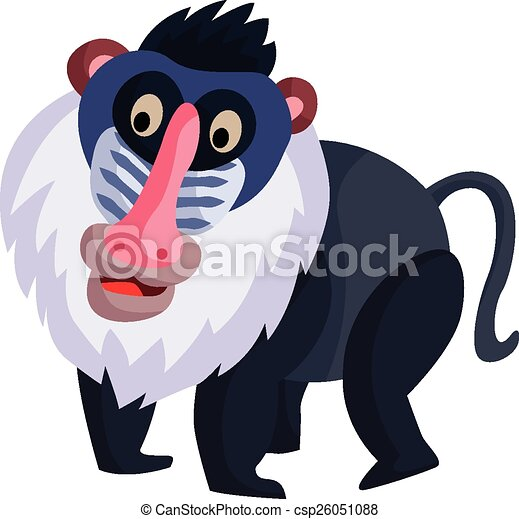 baboon vector search clip art illustration drawings and eps rh canstockphoto com bamboo clipart border Zebra Clip Art