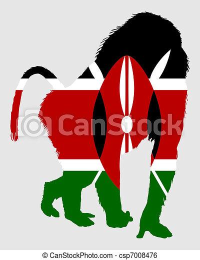 Baboon Kenya - csp7008476