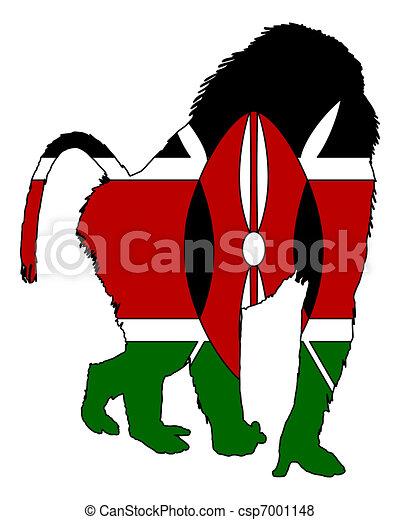 Baboon Kenya - csp7001148