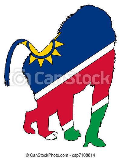Baboon Namibia - csp7108814