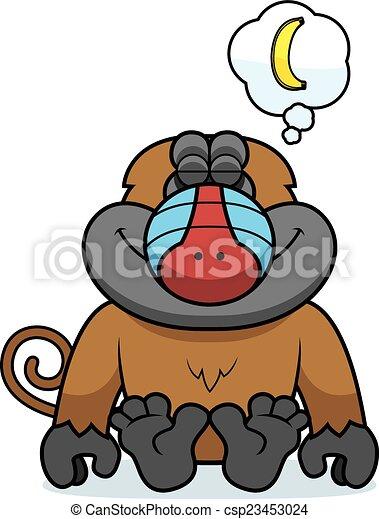 Babouin dessin anim r ver banana babouin dessin - Dessin de babouin ...