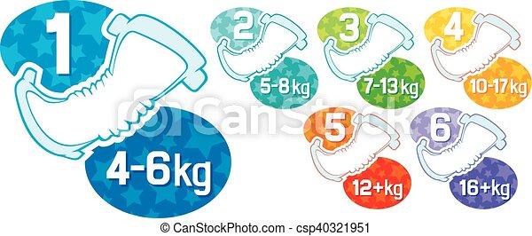 baby absorbent diaper labels - csp40321951