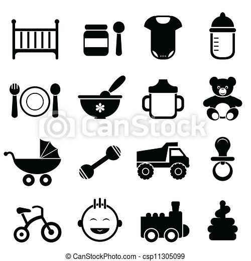 Baby and newborn icon set - csp11305099