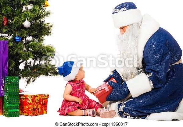 baby and santa claus - csp11366017