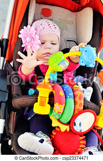 baby and toys - csp23374471
