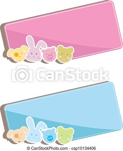 baby animals background - csp10134406