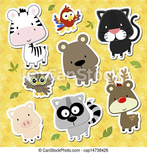 baby animals cartoon vector - csp14738426