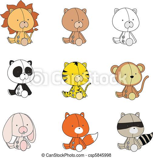 baby animals plush cartoon set - csp5845998
