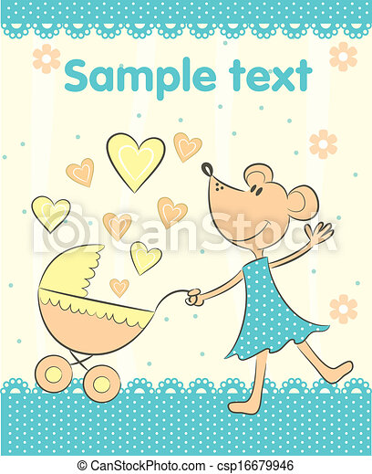 Baby Arrival Announcement Card Baby Arrival Announcement Eps - Baby arrival announcement