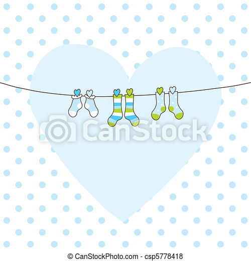 Baby arrival card - csp5778418