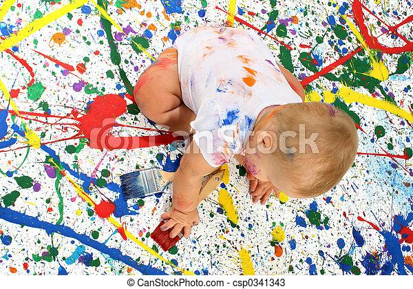 baby, artistiek - csp0341343