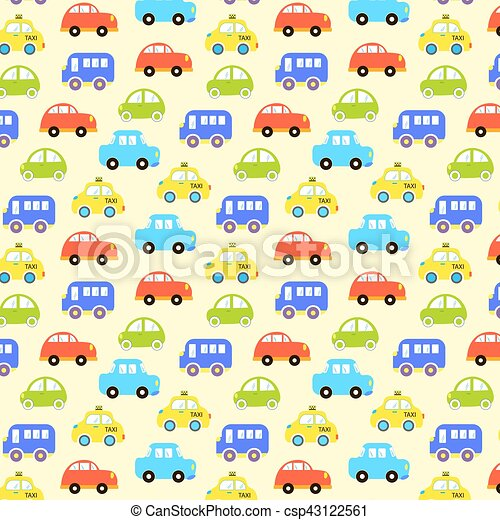 Baby background for boys vector of transportation colorful car baby background for boys vector of transportation colorful car pattern vector illustration voltagebd Choice Image