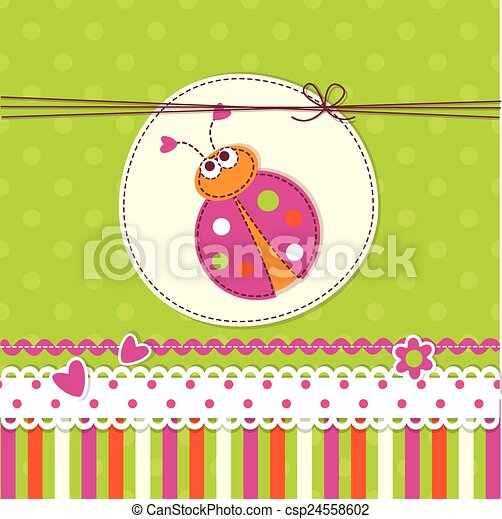 Baby background with ladybug for invitation baby shower greetings baby background with ladybug csp24558602 stopboris Image collections
