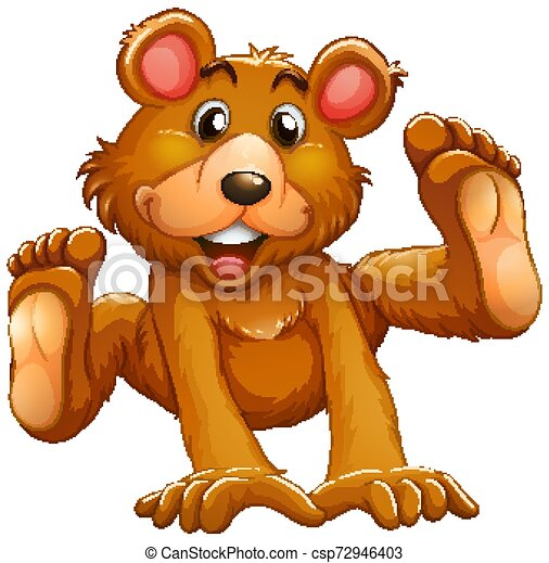 Baby bear on white background - csp72946403