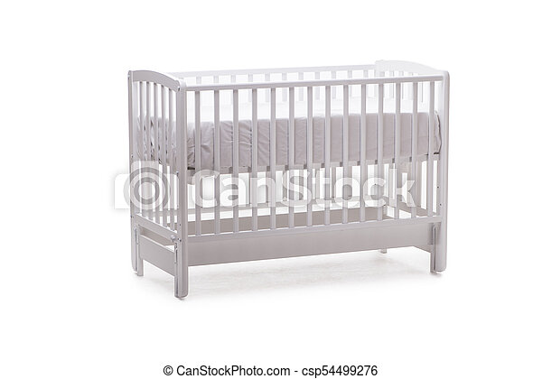 Baby bed cot isolated on the white background - csp54499276