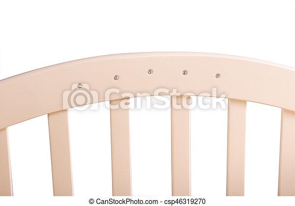 baby bed wooden - csp46319270