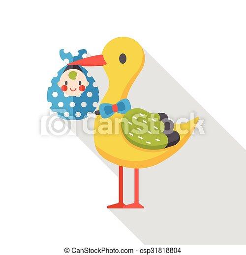 baby bird flat icon - csp31818804