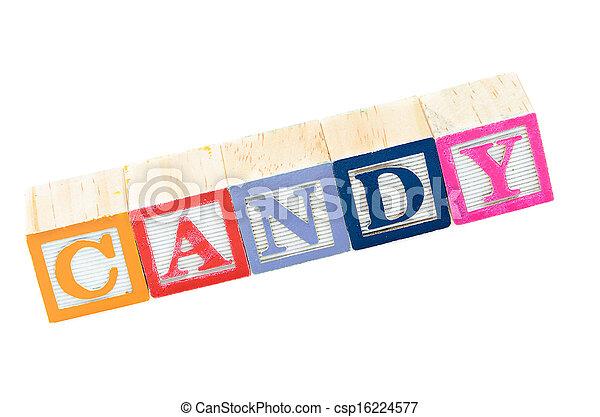 Baby blocks spelling candy - csp16224577