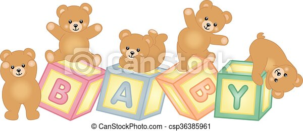 scalable vectorial image representing a baby blocks with clip art rh canstockphoto com baby building blocks clipart baby girl blocks clipart