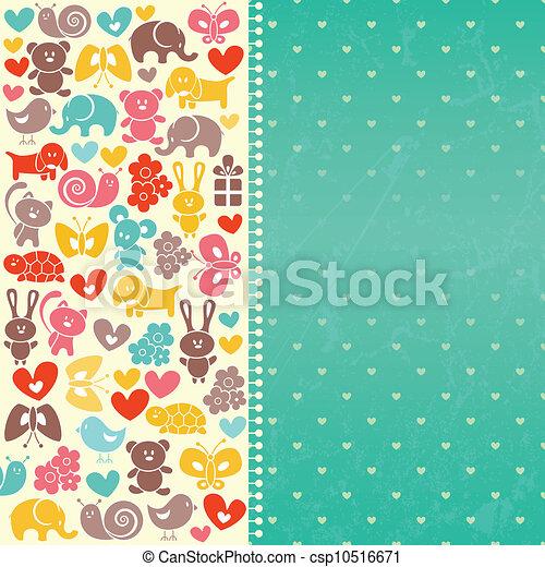 Baby  blue background - csp10516671